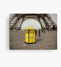 The Yellow Booth at Eiffel Tour! Canvas Print
