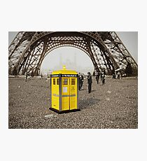 The Yellow Booth at Eiffel Tour! Photographic Print