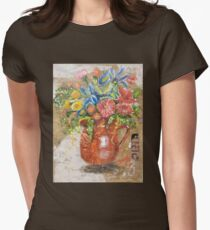 Floral Pitcher Womens Fitted T-Shirt