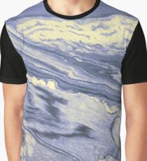 Lavender Marble With Cream Swirls Graphic T-Shirt
