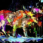Colorful Moose by Daniel Janda