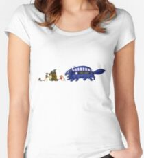 Doctor Totoro Women's Fitted Scoop T-Shirt