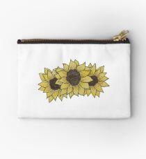 Three Sunflowers Zipper Pouch
