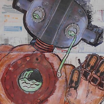 Steam Punk Robot (Drawn on Receipts) by FunkyDreadman
