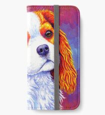 Colorful Cavalier King Charles Spaniel Dog iPhone Wallet/Case/Skin
