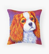 Colorful Cavalier King Charles Spaniel Dog Floor Pillow