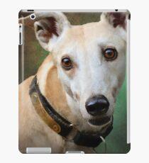 statuesque greyhound portrait iPad Case/Skin