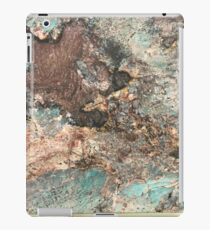 Turquoise and Fawn-Brown Marble iPad Case/Skin
