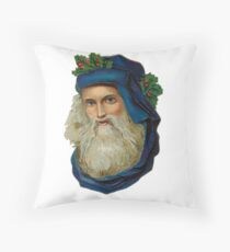 Vintage Santa Claus design Throw Pillow