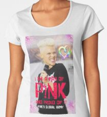 pink beauty sing Women's Premium T-Shirt