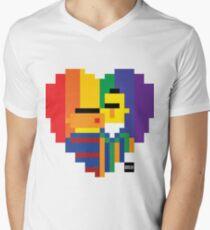 Loving Couple Men's V-Neck T-Shirt