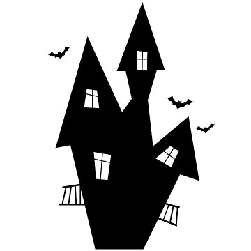 Halloween Witch House Silhouette by MartinV96