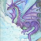 Mystic Ice Palace Dragon by morgansartworld