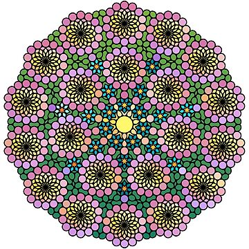 Flower Power Lucky Number Seven by Girih