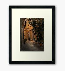 Birgu Street Malta Framed Print