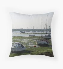 Emsworth Harbour at Low tide Throw Pillow