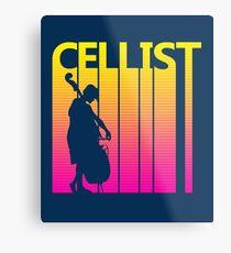 Retro 1980s Cello Metal Print