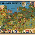 Pictorial map of East and West Prussia by edsimoneit