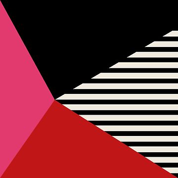 Geometric and stripes. Pink and red by lattedesign