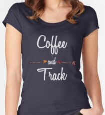Coffee and Track T shirt Hoodie Women's Fitted Scoop T-Shirt