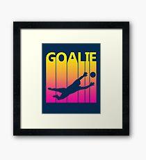Retro 1980s Soccer Goalie Framed Print