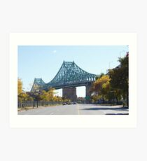Jacques-Cartier Bridge, Montreal, Canada Art Print