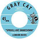 Gray Cat Music 45 by BlackOctopusMer