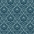 French Provincial Fleur De Lis in Blue by Tee Brain Creative