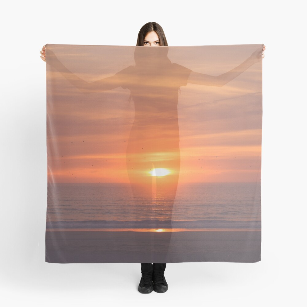 Sunset at the beach Scarf