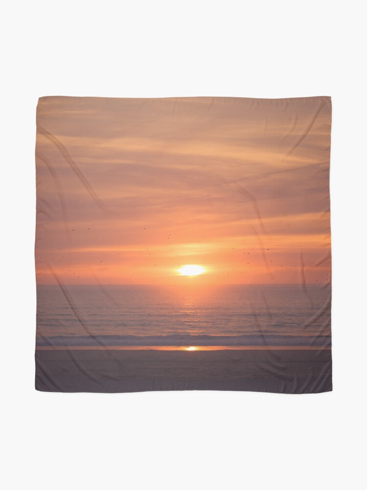Alternate view of Sunset at the beach Scarf