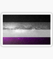 Asexuelle Galaxy Flagge Sticker
