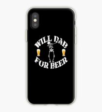 Funny Halloween Skeleton Will Dab For Beer. Beer Lover Gift iPhone Case