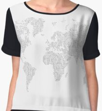 Digital Cartography Chiffon Top