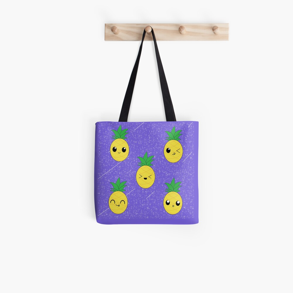 Ananas-Galaxie-Muster Stofftasche
