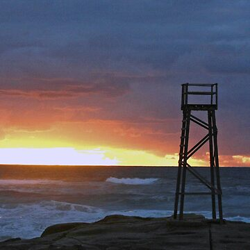 Sunrise at Redhead Beach - 3 by kasarnDesigns