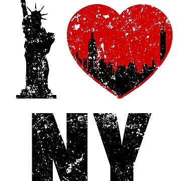 I Love NY City Tshirt Gift New York Shirt by worksaheart
