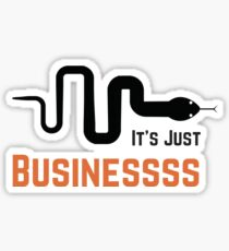 84c91467a8 It s Just Business McCombs Snake Sticker