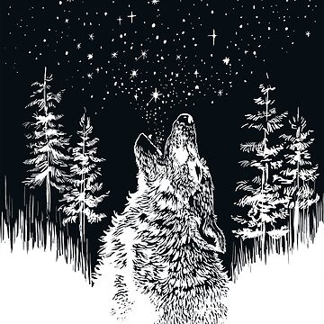 Wolf Howls A New Galaxy by carissalapreal