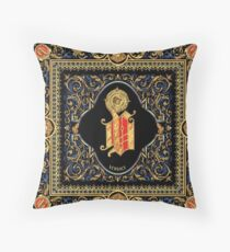 classic baroque pattern Throw Pillow