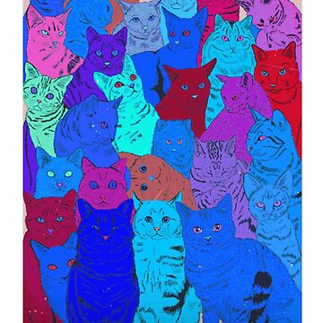 BEAUTIFUL CAT PATTERN - PINK, PURPLE, BLUE, NEON by MelanixStyles