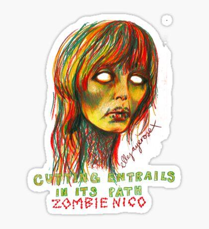 Zombie Nico Sticker