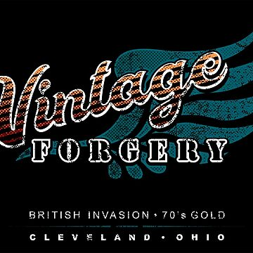 Vintage Forgery Dark Grunge: American Rock Band from Cleveland by JWWright