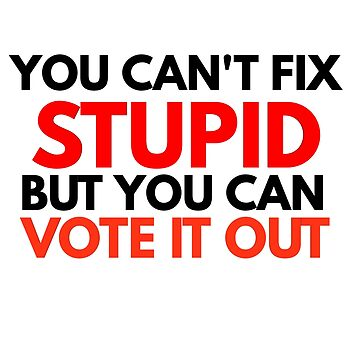 YOU CAN NOT FIX STUPID BUT YOU CAN VOTE IT OUT by phys