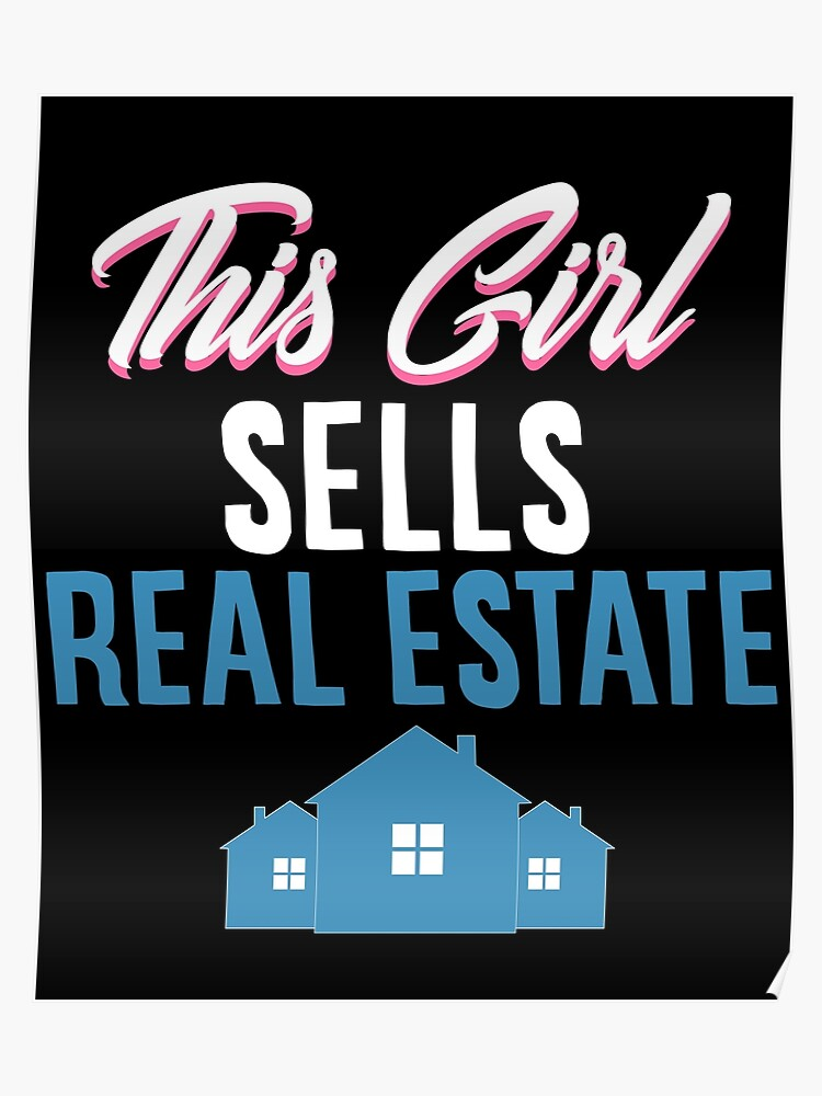 Cute Real Estate Agent Home Broker Funny House Realtor Gift | Poster
