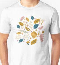 Fall Foliage in Gold + Blue Unisex T-Shirt