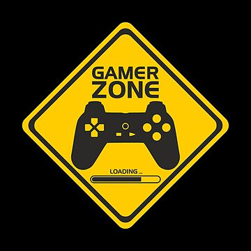 Funny Gift - Gamer Warning Sign by FDST-shirts