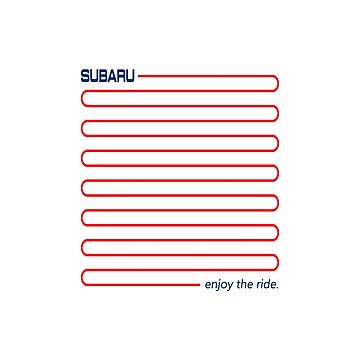 Subaru enjoy the ride by roccoyou