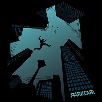 Cool Awesome Parkour Sport City Buildings Graphics by GeniusGecko