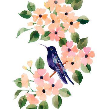 Humming Bird and Black Eye Susan by jjsgarden