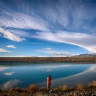Clouds over the Twizel Canal by Linda Cutche